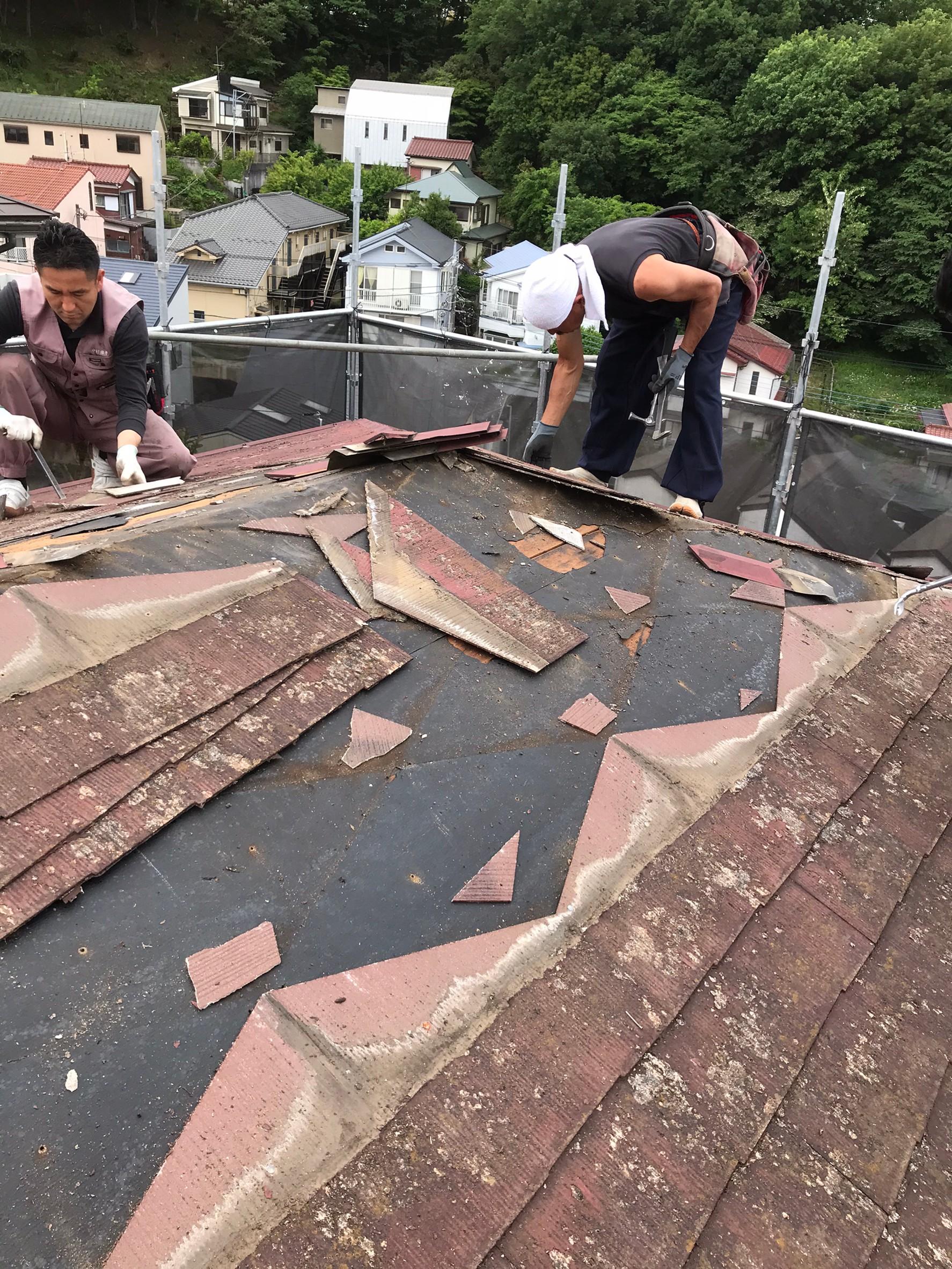 ◆屋根葺き替え工事◆
